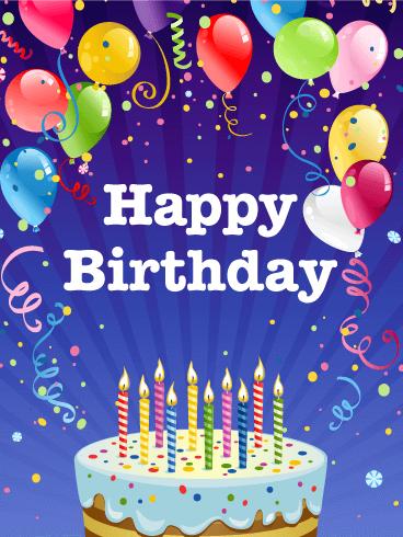 Astonishing Birthday Party Card | Birthday & Greeting Cards by Davia
