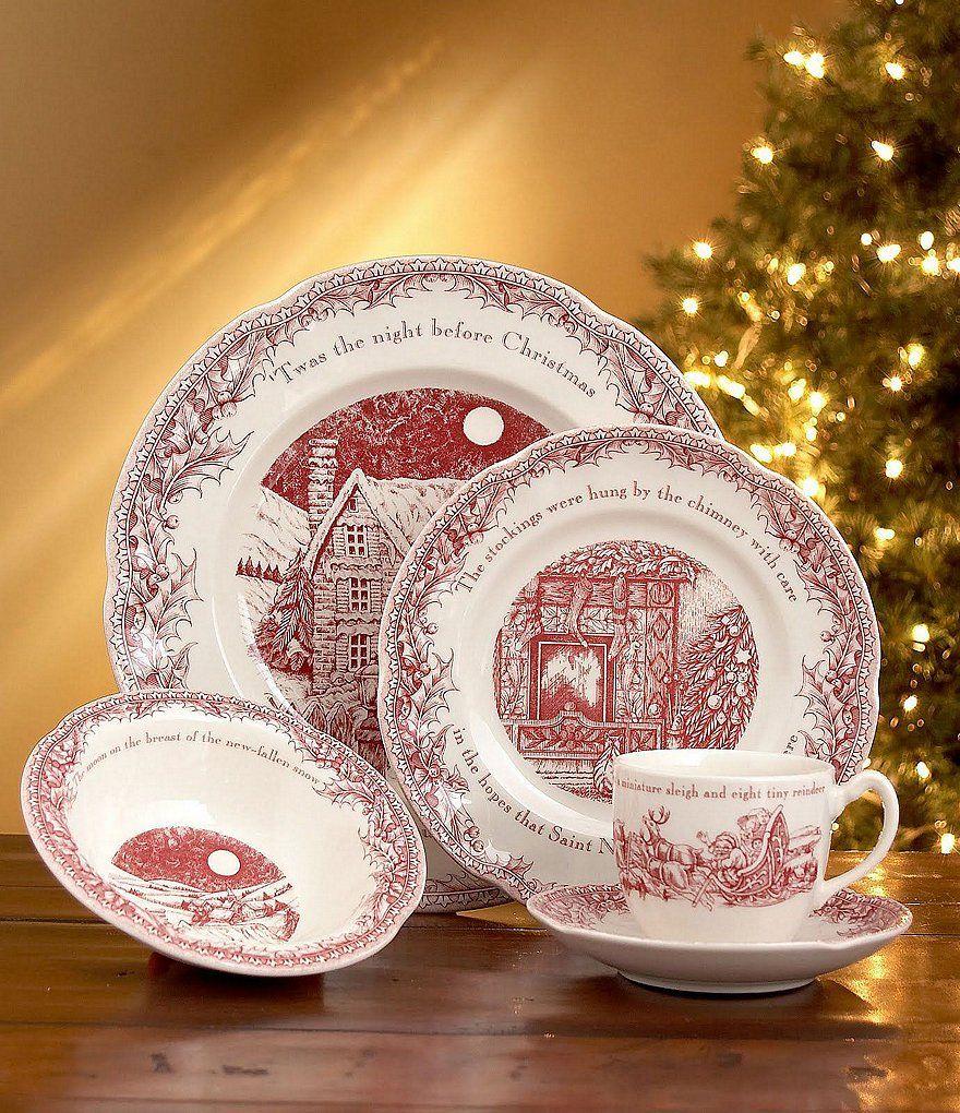 Johnson Brothers \u0027Twas the Night Dinnerware Collection & Johnson Brothers \u0027Twas the Night Dinnerware Collection   Christmas ...