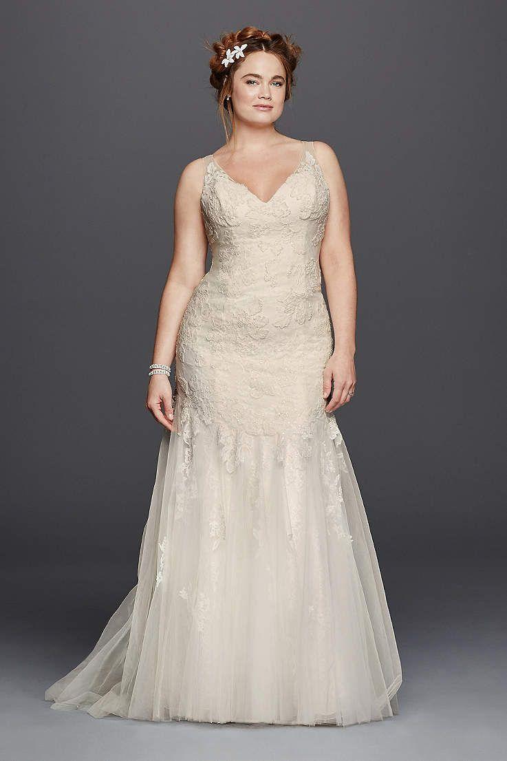 Best vintage wedding dress designers  Davidus Bridal has beautiful plus size wedding dresses that come in