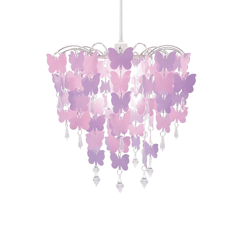 Diese Kinderzimmerlampe mit rosa Schmetterlingen ist ein echter ...
