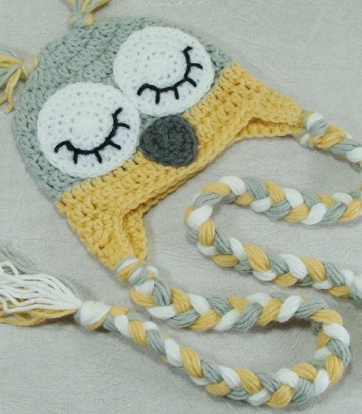 58851b2339 touca-polaina-de-croche-coruja-touca-croche-coruja | Crochet ...
