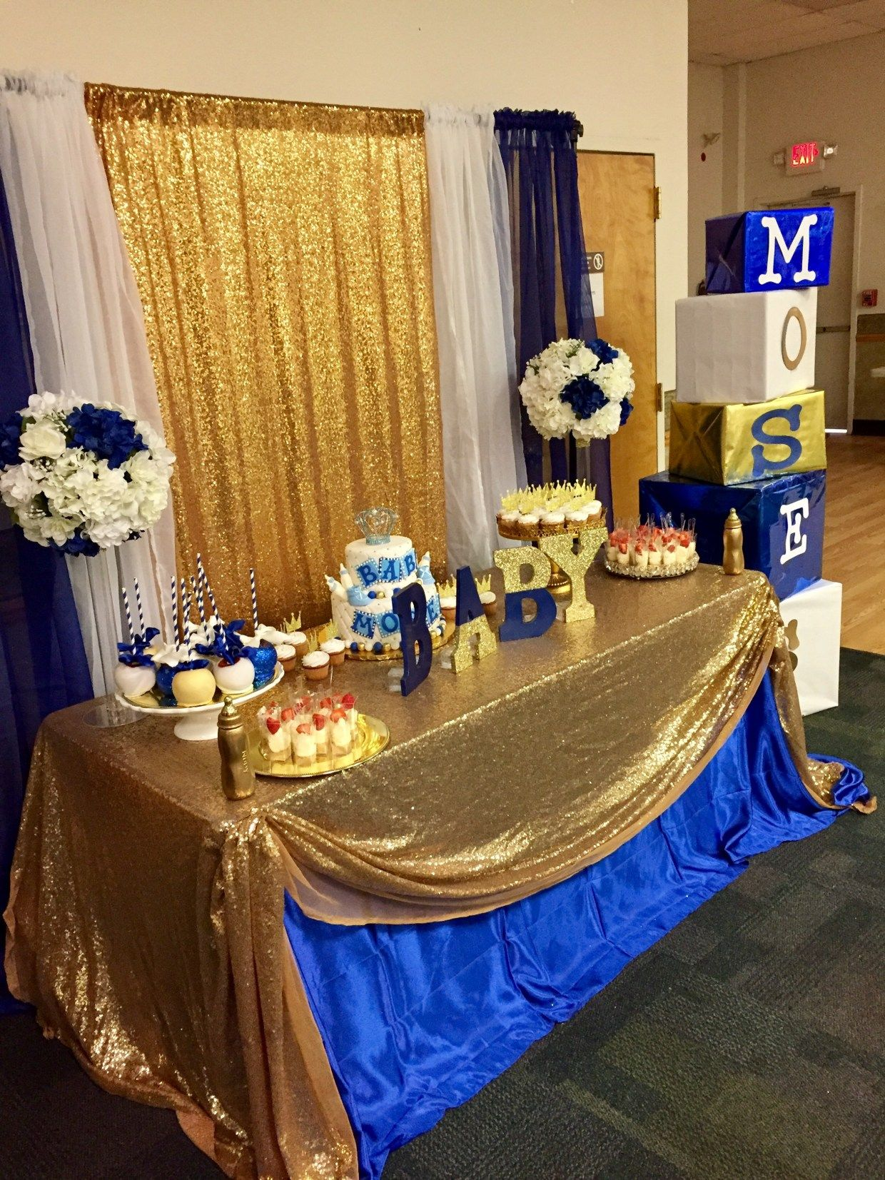 30 Baby Shower Ideas Royal Blue Prince Baby Shower Decorations