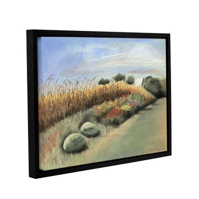 """Charlton Home Peaceful Landscape Framed Painting Print on Wrapped Canvas Size: 18"""" H x 24"""" W x 2"""" D"""