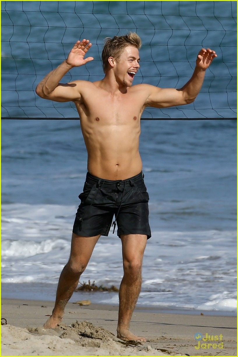 Derek Hough Shirtless Volleyball Player  Derek Hough -3610