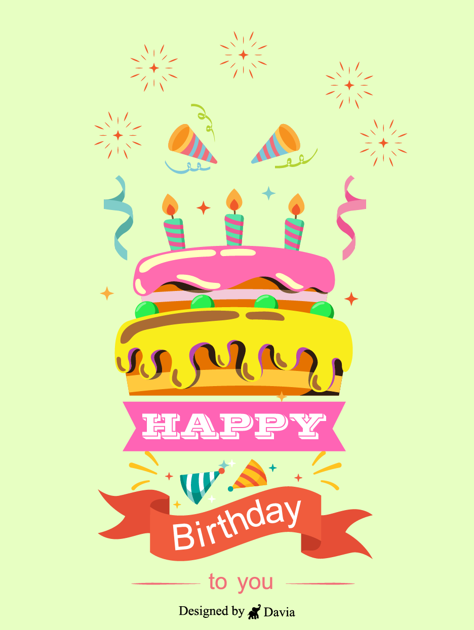 Pin On Happy B Day Cards