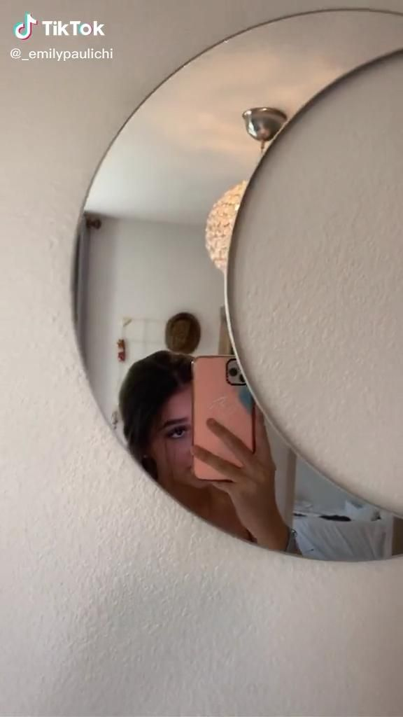 Pin By Sofia Chaves On Tiktok Video Cloud Shapes Round Mirrors Mirror Table