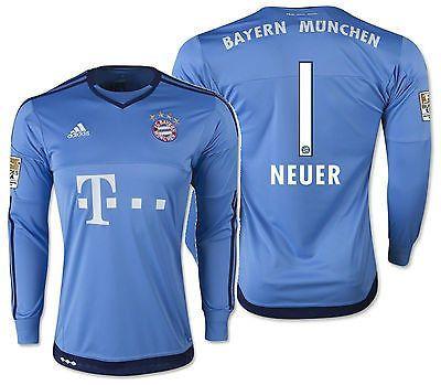 Adidas Manuel Neuer Bayern München Heim Torwart Trikot 2015/16