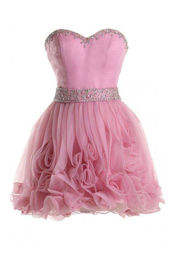 Pink Prom Dresses, Short Prom Dresses, #shortpromdresses, Hot Prom ...