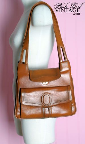 1970 S Lou Taylor Brown Shoulder Bag
