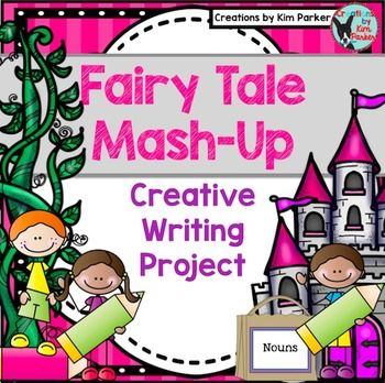 This Fairy Tale Mash-Up CreativeWriting project provides students with the chance to draw 3 cards (a noun, an adjective, and a magical object), plan, and then write a creative story. My students love this activity each year!Includes:*noun cards*adjective cards*magical object cards*planning pages  *writing paper (regular lined and half-inch handwriting paper)*rubric Other writing resources in my store include:Writer's Workshop Personal Narrative UnitOpinion Writing Prompts- Ready to Print…