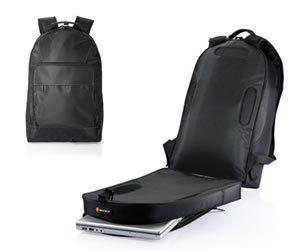 Quick scan laptop rugzak  Tas beschikt over ingenieus openklapsysteem zodat de laptop niet uit de tas gehaald moet worden bij de douane. Micro...