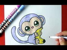 How to Draw a Cute Monkey  – Como Dibujar un Mono Kawaii