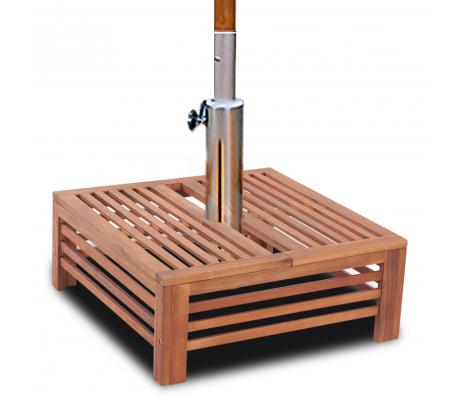 table d 39 appoint en bois pour pied de parasol jardin. Black Bedroom Furniture Sets. Home Design Ideas