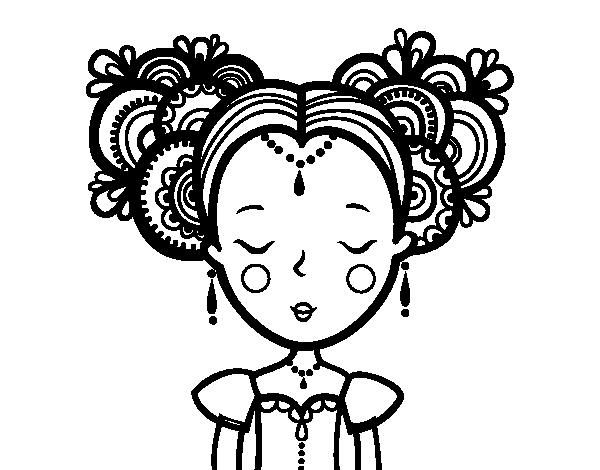 Dibujo de Princesa clásica para colorear