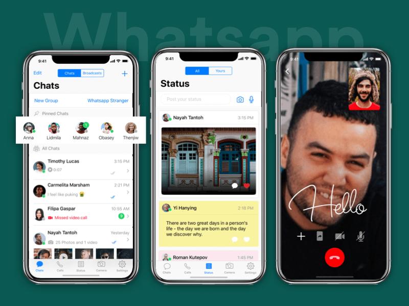 WhatsApp Redesign Redesign, Sketch app, Free design