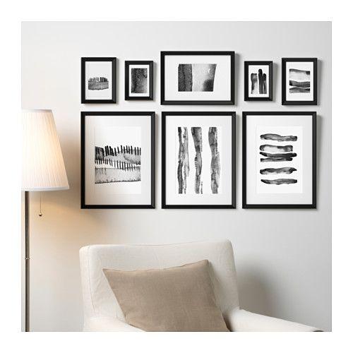 knopp ng rahmen mit bild 8er set schwarz ikea rahmen und mama. Black Bedroom Furniture Sets. Home Design Ideas