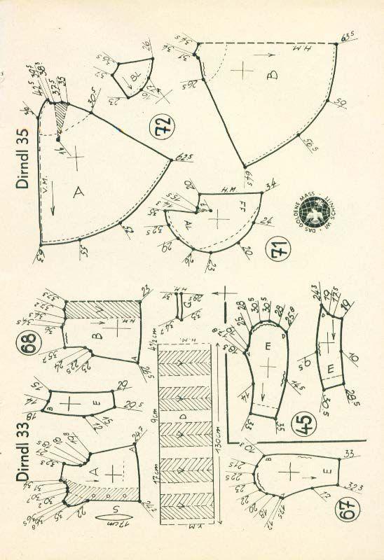 Lutterloh Dirndl Supplement 1950\'s pg. 53 | emilce | Pinterest ...