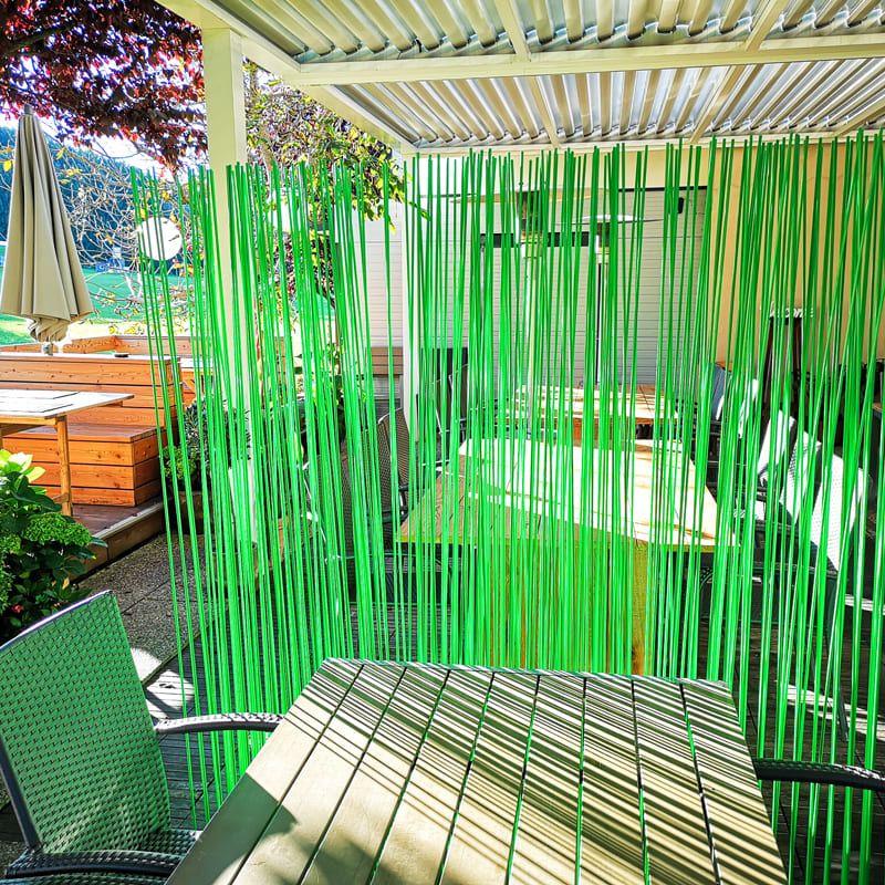 Grüne Bambus Sichtschutz Raumteiler Ideen aus Fiberglas
