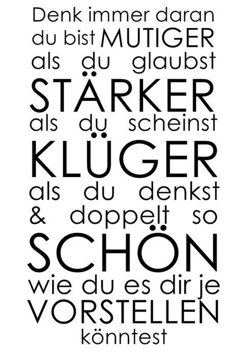 Sprüche · Wer Du Bist .