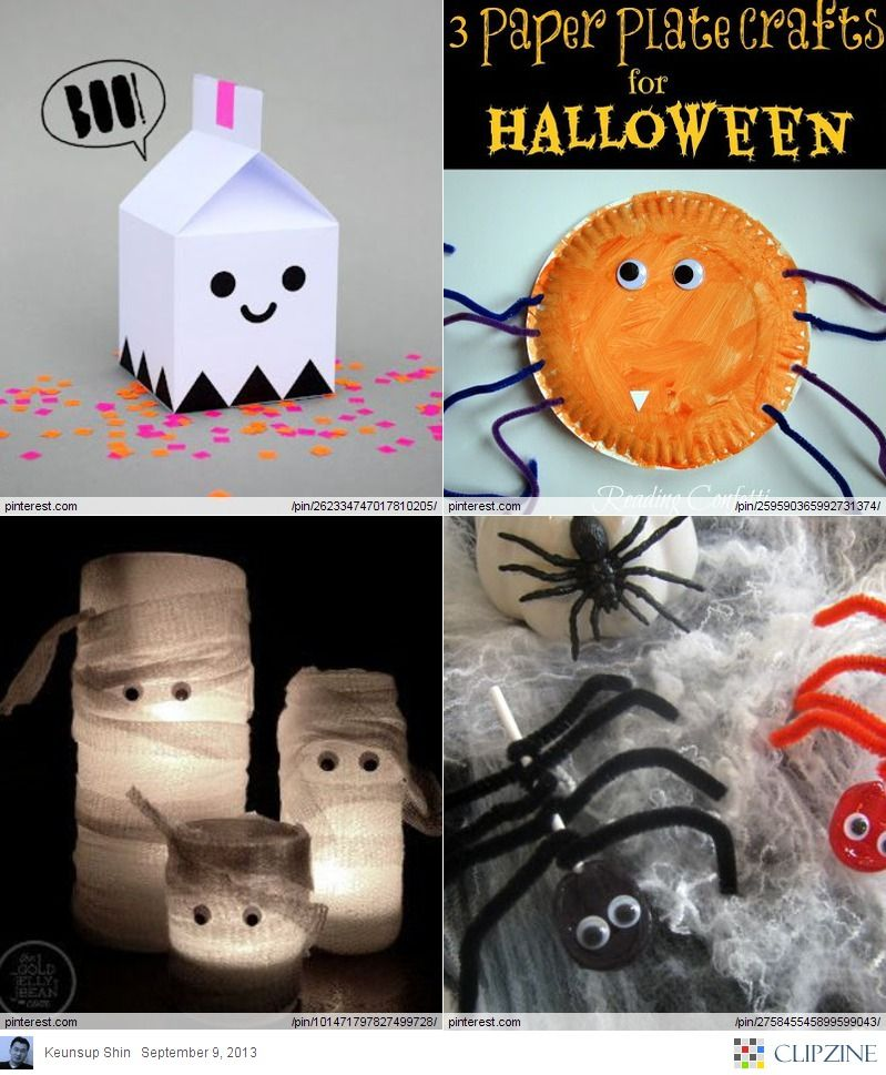 So cool Halloween crafts for Kids Awesome craft love the milk - easy homemade halloween decorations for kids