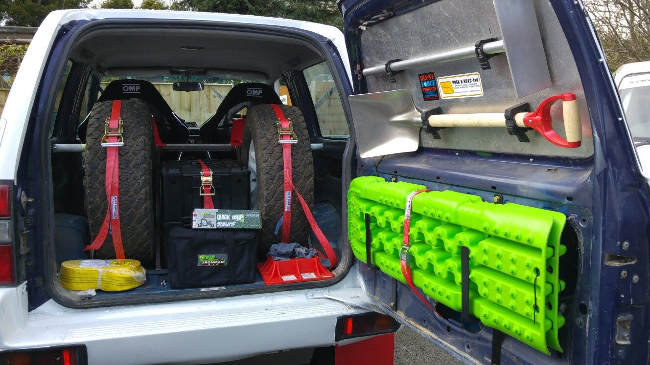 Race Vehicle Cargo Control Systems By Blunt Force Products Com Available Through Rock N Road 4x4 Ltd Custo Expedition Vehicle Jeep Accessories Bug Out Vehicle