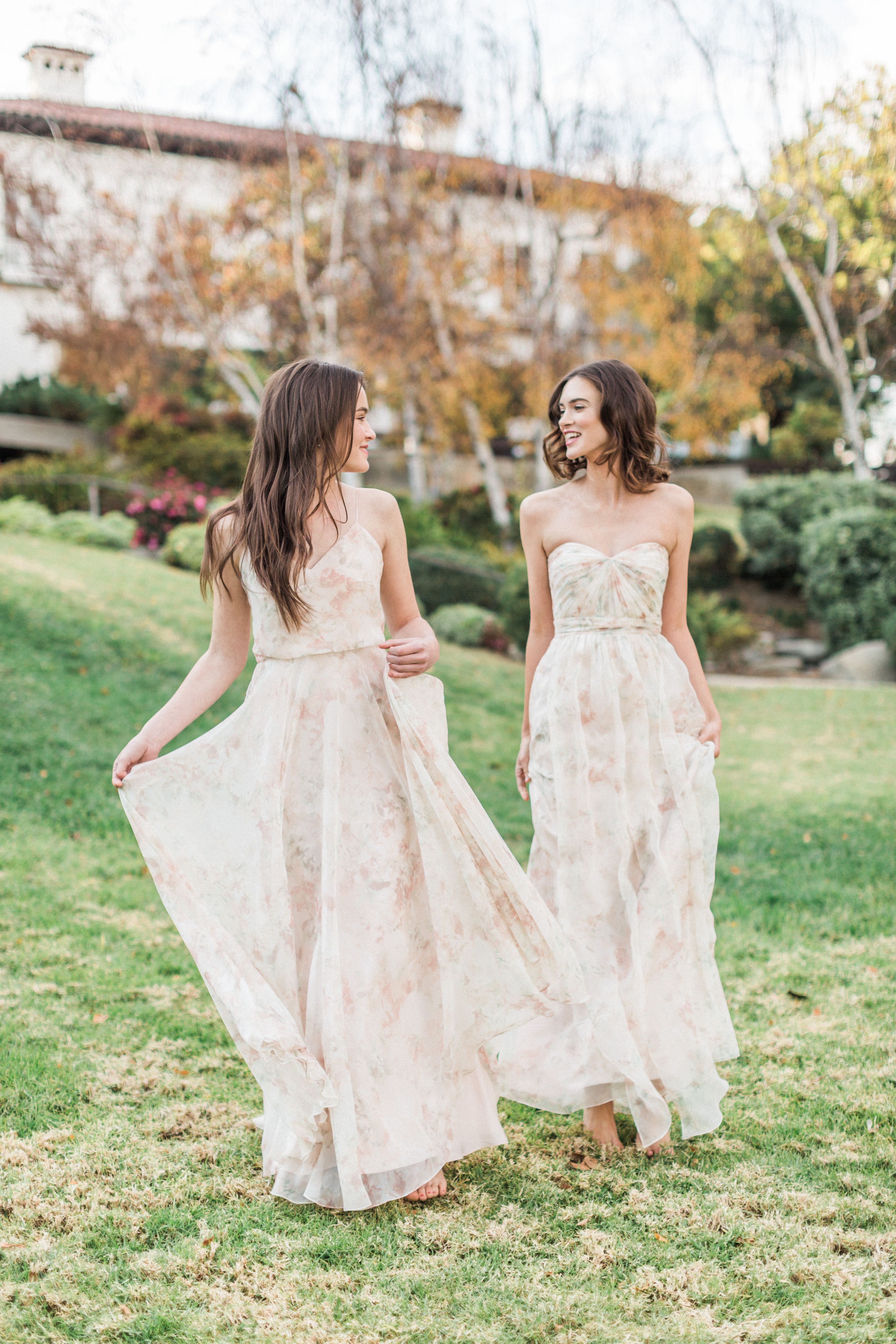 Watercolor Floral Prints By Jenny Yoo Floral Bridesmaid Dresses