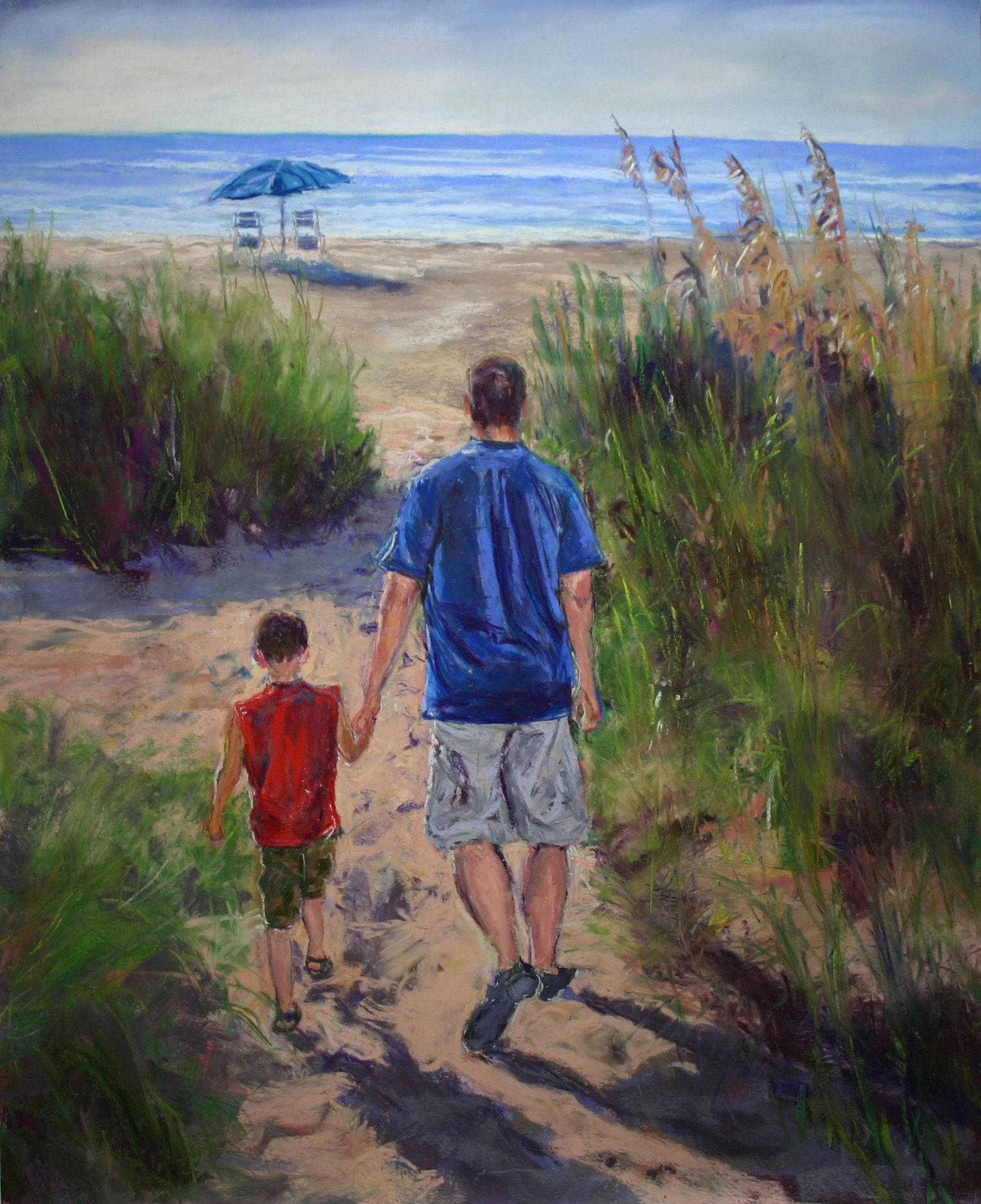 Jacob And His Dad At Myrtle Beach