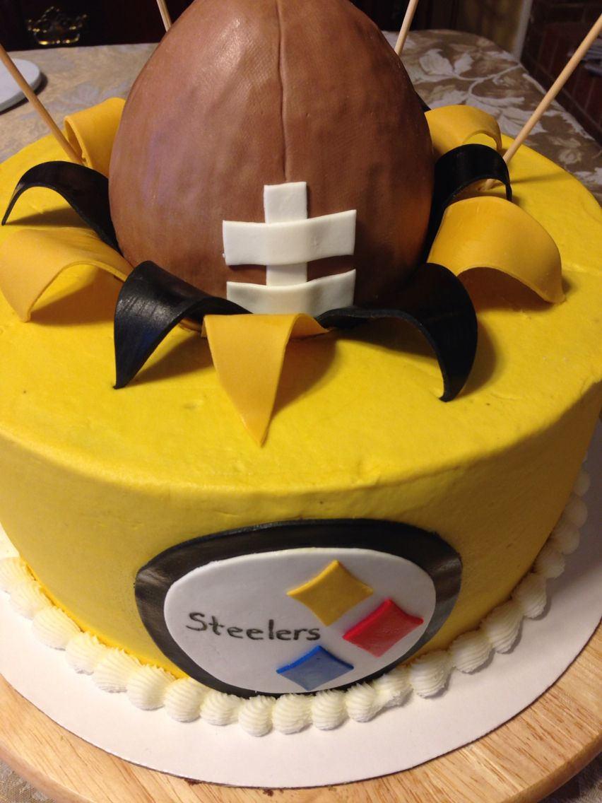 Steelers cake Sports cakes Pinterest Cake Birthdays and