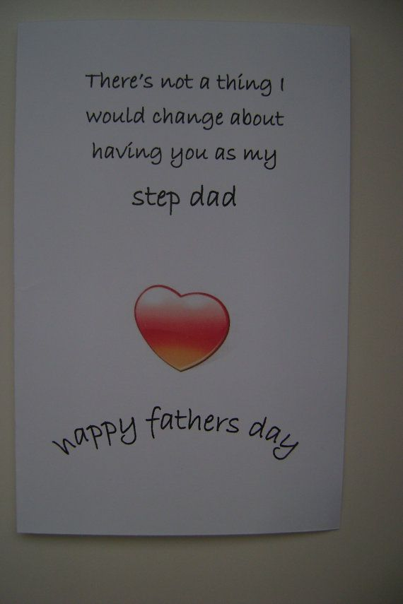 Happy Fathers Day For Step Dad Stepdad Cards Step Fathercard