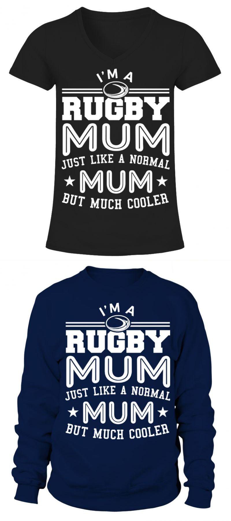 """Ladies Hoodie /""""Rugby Mum/""""  Hoody"""