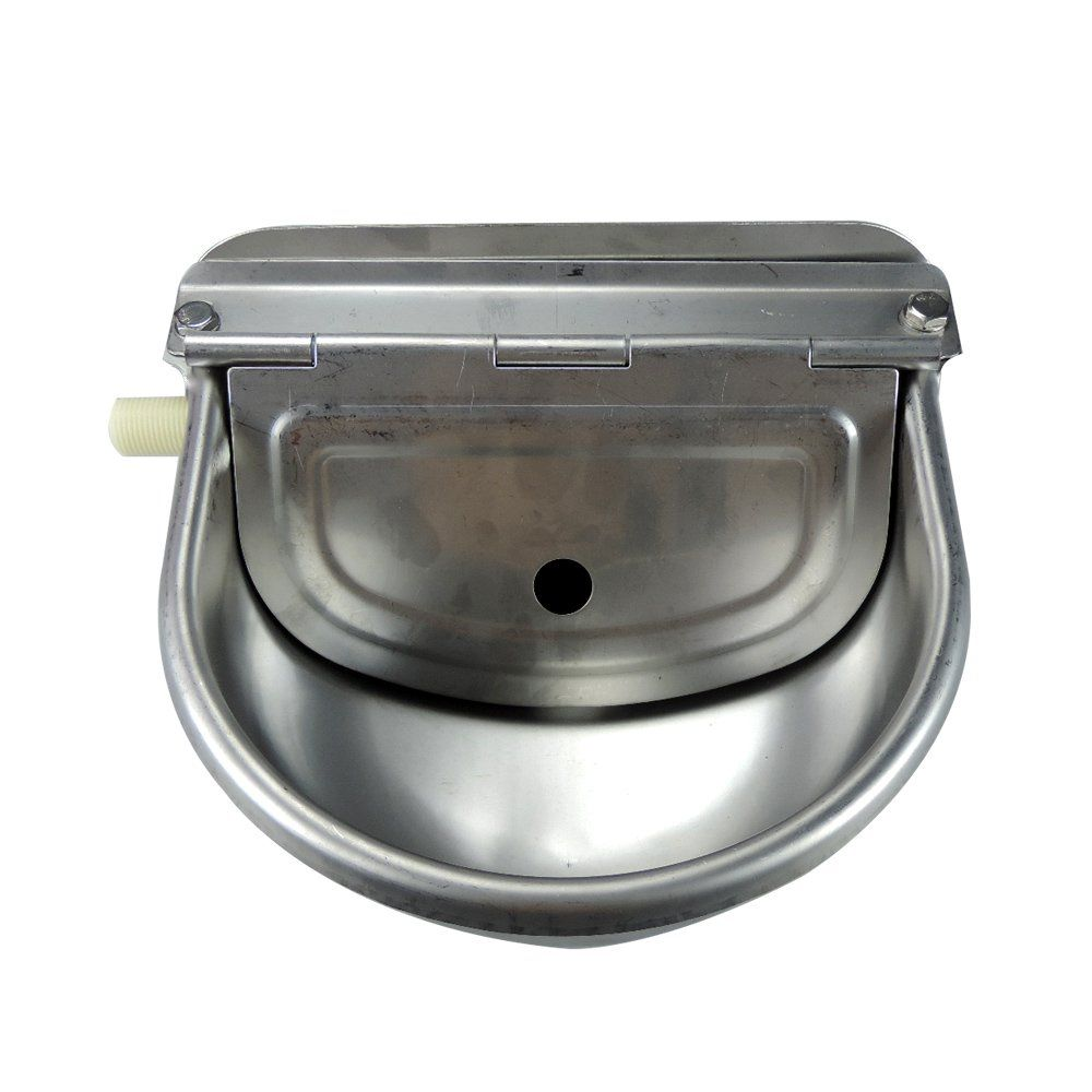 livestocktool com Dog Water Bowl Float Valve Stainless Steel
