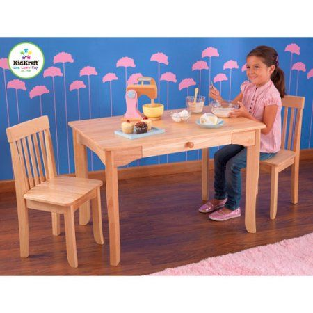 KidKraft - Avalon Table and Chair Set, Natural, Brown | Walmart and ...
