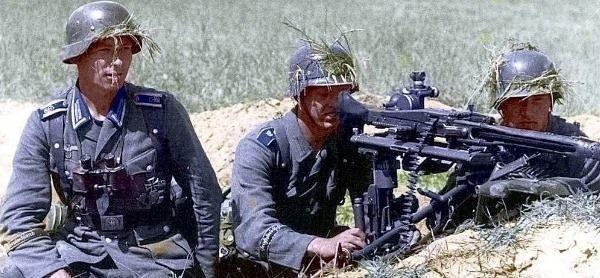 Grossdeutschland machine gun position.