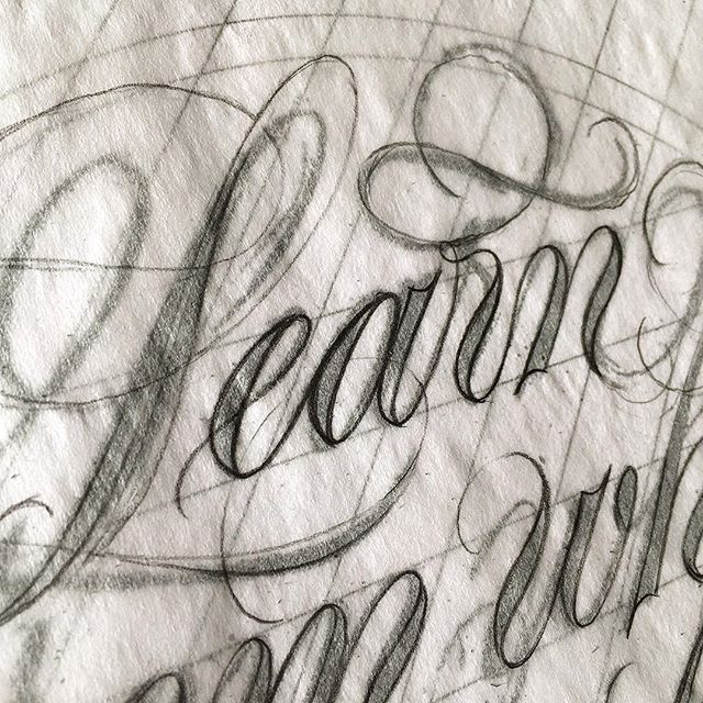 A few seats still open for my Spencerian Lettering workshop @coopertype NYC this weekend. Profile link has all the details.  Instruction will include tips for sketching, composing and embellishing spencerian script.