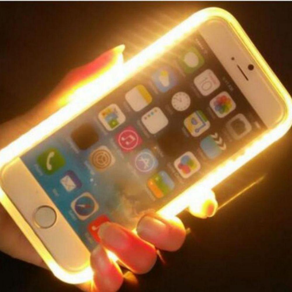 Cover for Samsung Galaxy S6 S7 S6edge S7Edge Light LED Flash Case Selfie  Lights Case for iPhone 7 7plus 5 5S SE 6 6plus 6S plus   Price   US  8.75    FREE ... 4995ab50b