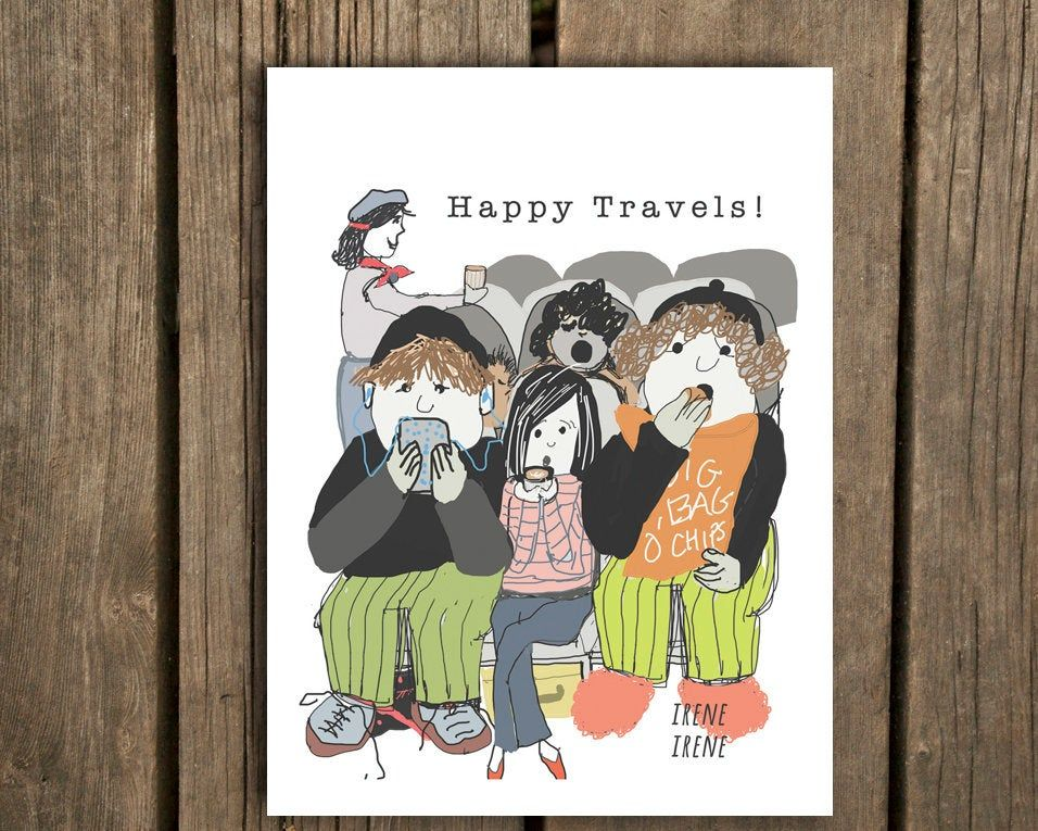 Printable Goodbye Card Funny Card Happy Travels Miss You Moving Card Retirement Card Coworker Goodbye Card Funny Funny Cards Moving Cards Happy Travels
