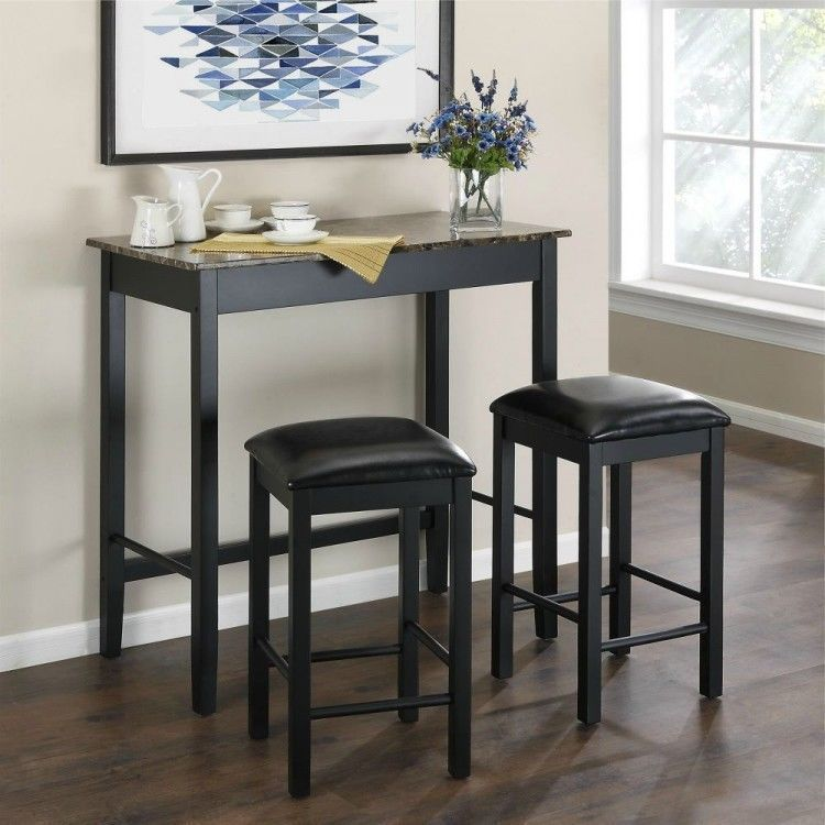 Inspirational Black Wood Bar Table