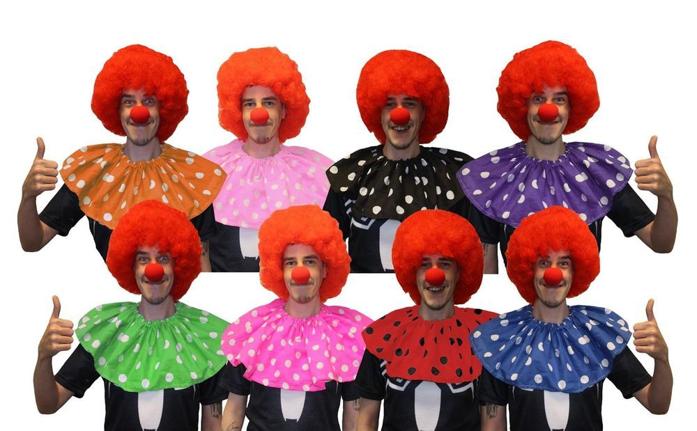 Clown Nose Circus Clown Girl Fancy Dress Up Halloween Costume Accessory 2 COLORS