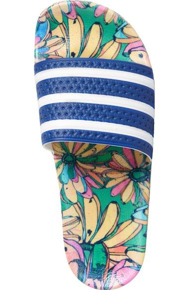 reputable site 2016f f3f1a Free shipping and returns on adidas Adilette - Supercloud Plus Print  Slide Sandal (Women) at Nordstrom.com. Designed in collaboration with  Brazilian-based ...