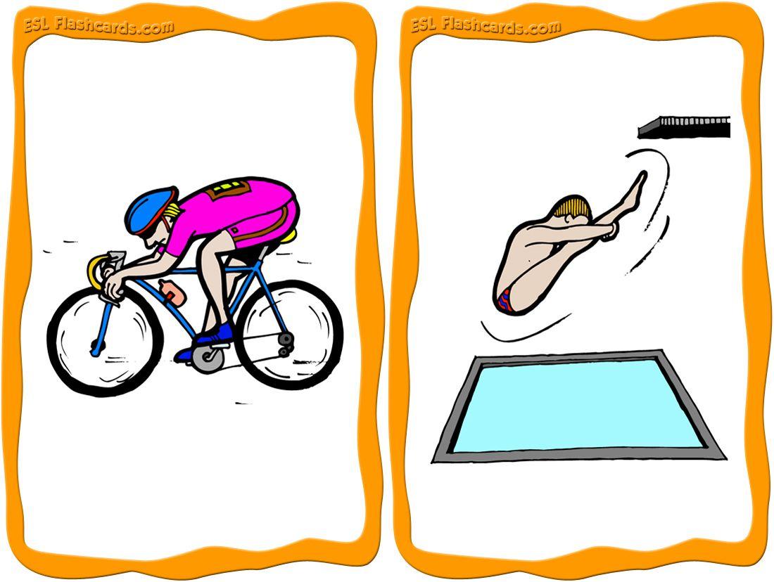26 Printable Sports Flashcards For Teaching Esl Pictures