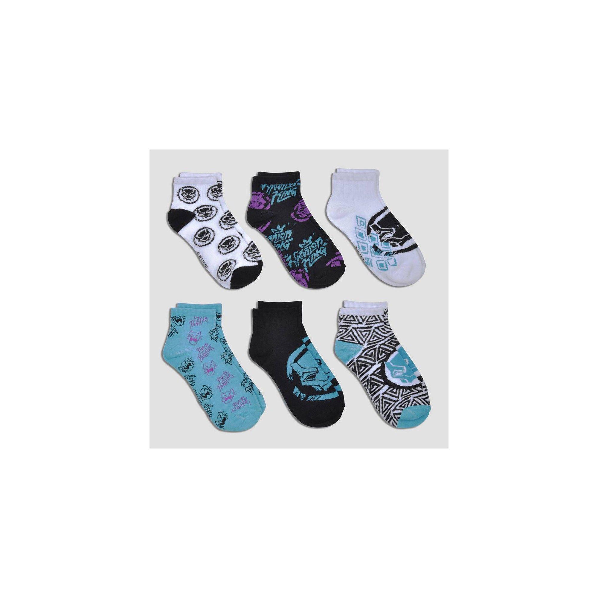 c9da07e4 Kids' Black Panther 6pk No Show Socks - S/M, Kids Unisex, Size ...