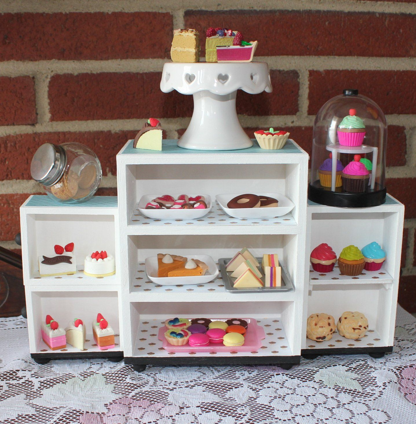 Design Make Your Own Dollhouse one broke girl bakery display case part 3 make your own for 18 inch dolls from a mini chest of drawers