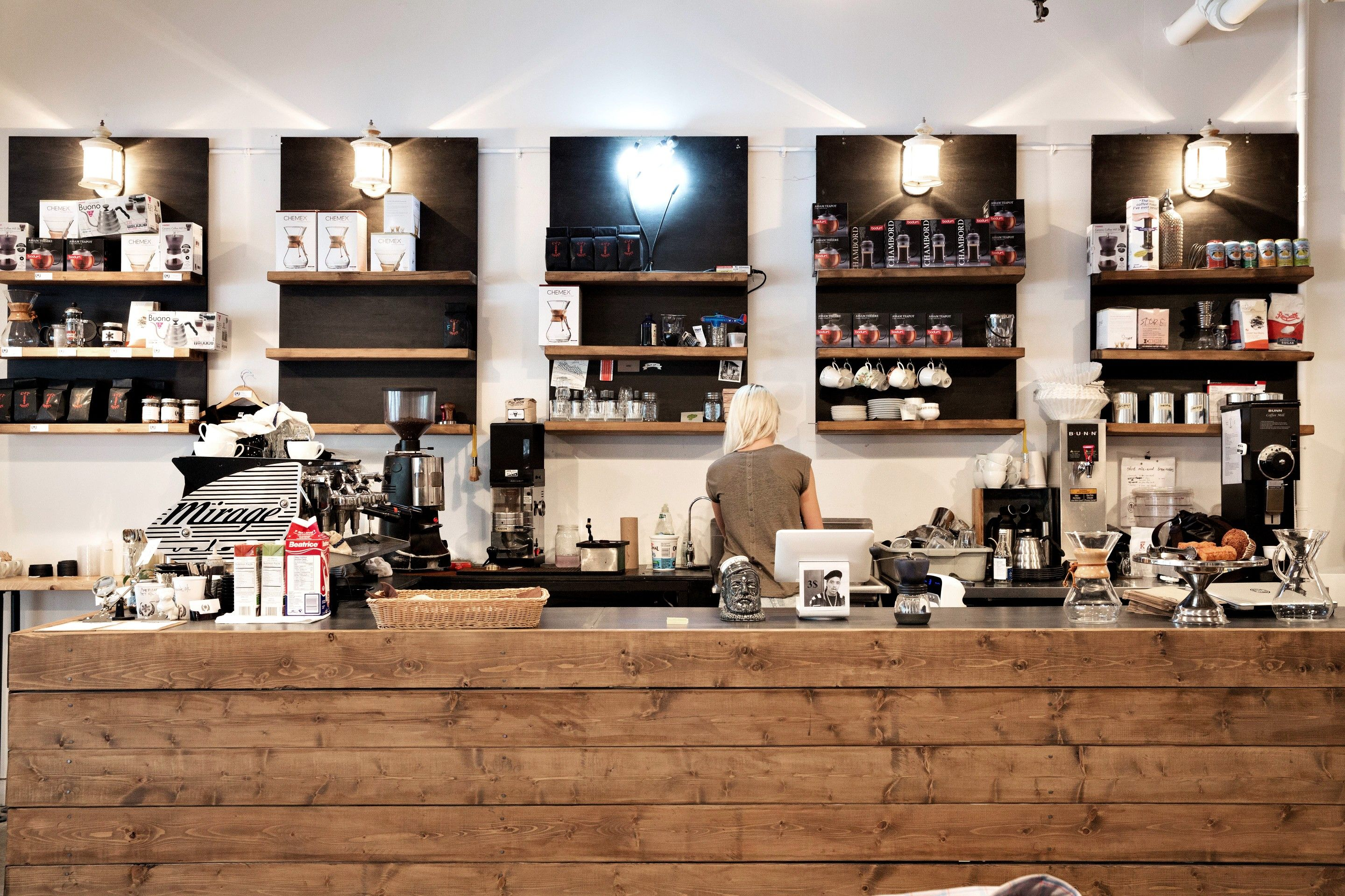 Why Not Grab A Cup Of Joe While You Shop Cafe Neve At Atelier Frank Oak In The Mile End Montreal Qc Home Decor Coffee Shop Home