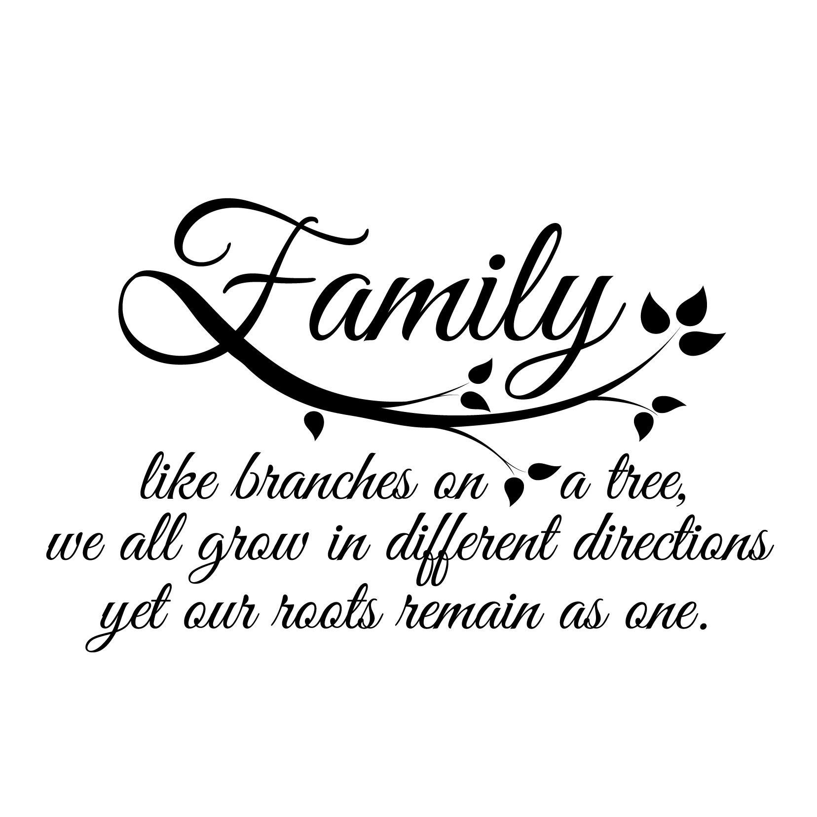Family Quote Glamorous Small Family Quote In Black  Pinterest  Quote Pictures And 21St