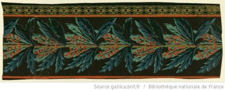 Bordure Papier Peint Zuber Vers 1800 Manufacture De Rixheim