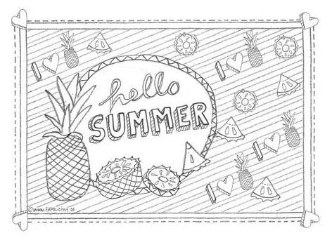 Ausmalbilder Erwachsene Sommer Ausmalbild Fr Erwachsene Ananas