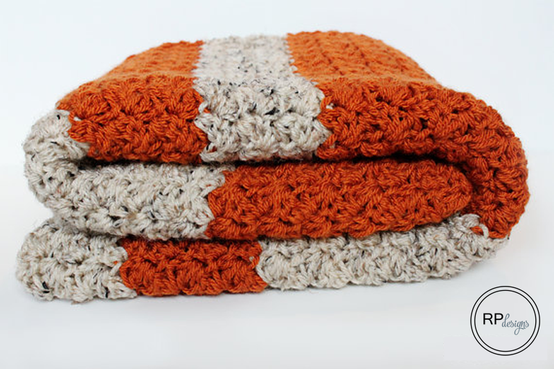 The Coziest Fall Pumpkin Tweed Blanket | Manta, Calabazas y Patrones