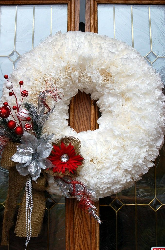 Coffee Filter Wreath Christmas