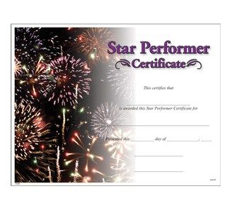 Star Performer Certificate | Dance Competition Recognition Ideas ...