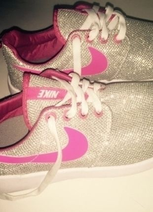 sports shoes 6993a e8c0f Nike Glitzer pink Schuhe Turnschuhe